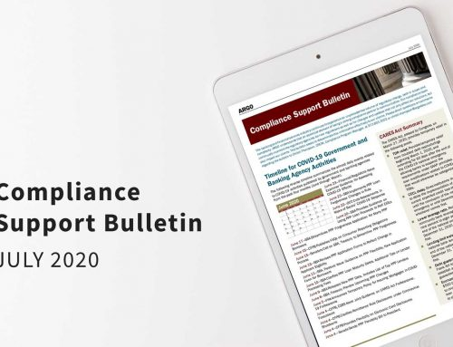 Compliance Support Bulletin – July 2020