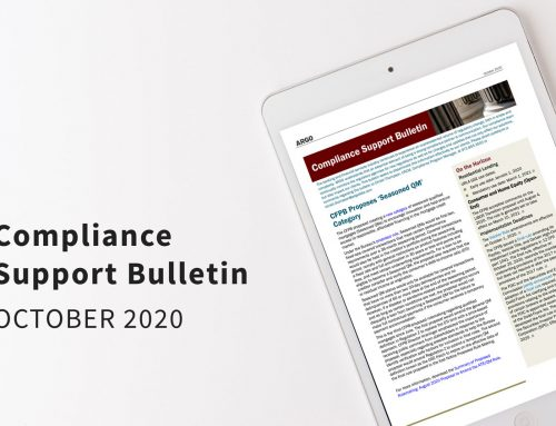Compliance Support Bulletin – October 2020