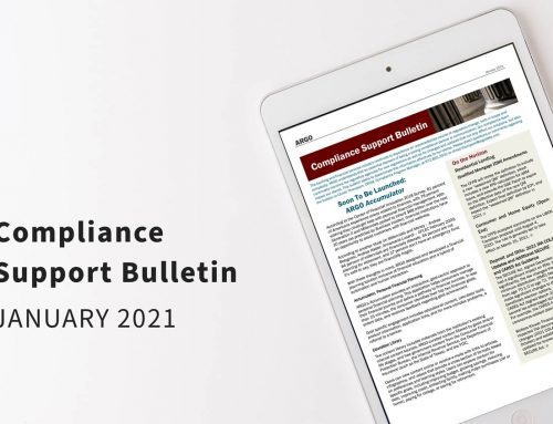 Compliance Support Bulletin – January 2021